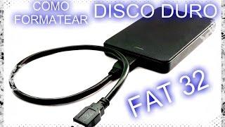 COMO FORMATEAR DISCO DURO EXTERNO EN FAT 32 CON GUIFORMAT