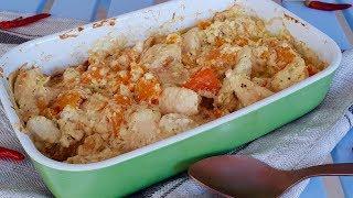 Хотите вкусный Ужин, тогда это то, что Вам нужно!Нежная, сочная запеченная курица с тыквой.
