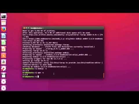 How to Install Node js In Ubuntu 15 10 - YouTube