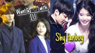 When IU meets male idols (Jungkook, Mingyu , Kai and more)