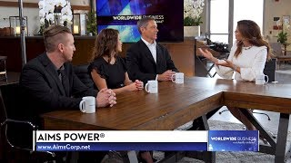 Aims Power® featured on Worldwide Business with kathy ireland®