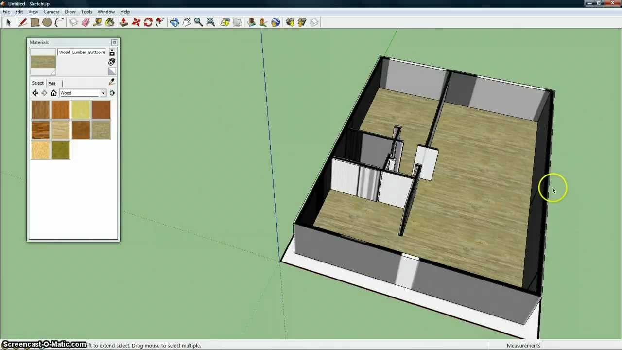 Plattegrond 3d maken met sketchup youtube for 2d plattegrond maken