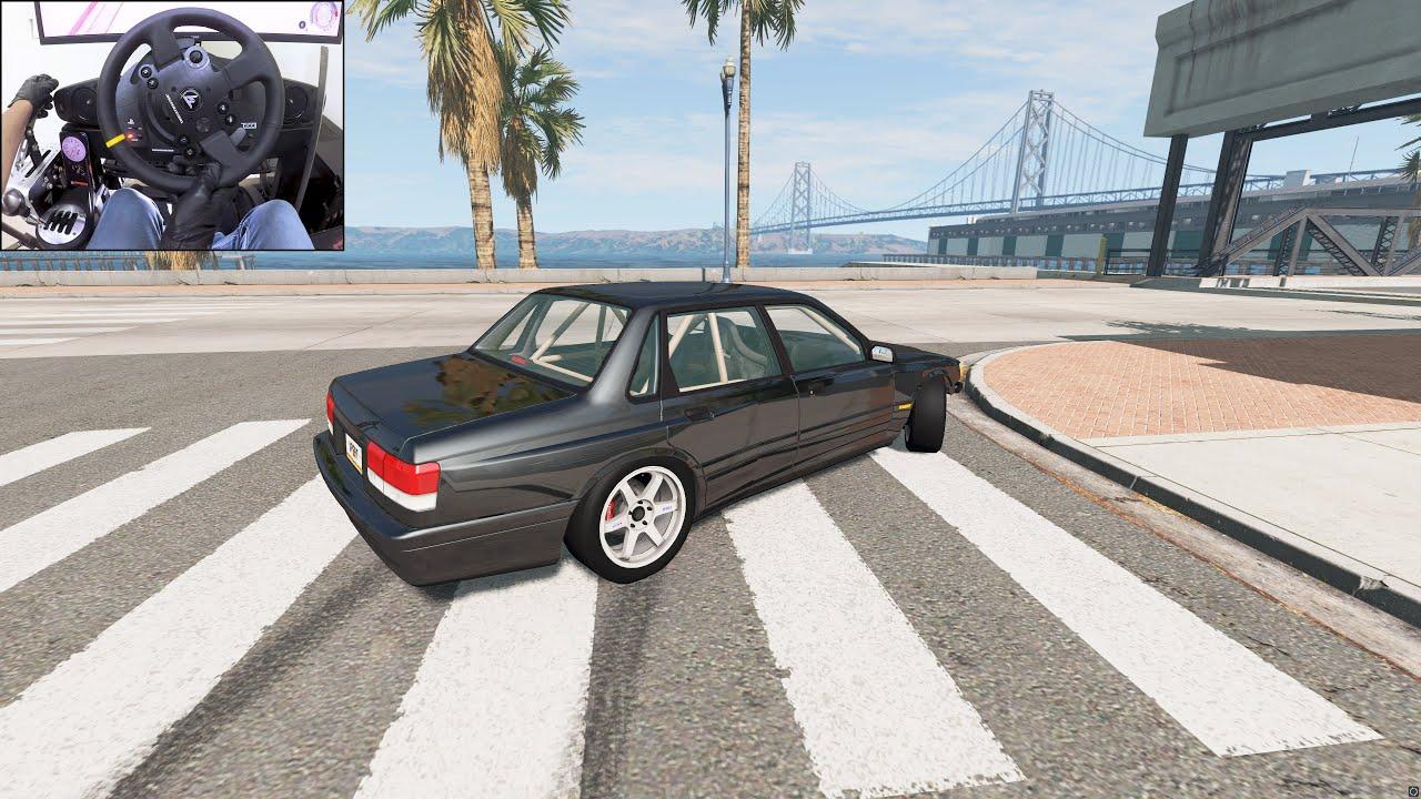 BeamNG.drive -  Steering wheel drifting with 1080° | Thrustmaster TX gameplay