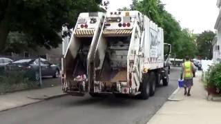 JRM Hauling & Recycling 309 ~ Mack GU813 Granite Heil Formula 40/60 Split Rear Loader On Dual Stream