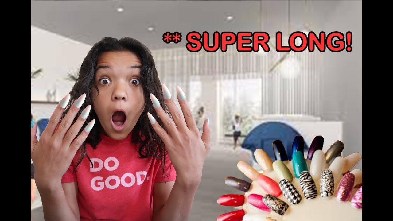 Wearing LONG ACRYLIC NAILS for 24 HOURS! - YouTube