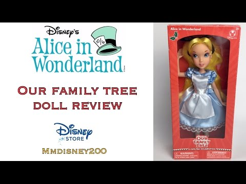 Alice Disney Store Our Family Tree doll Unboxing and Review