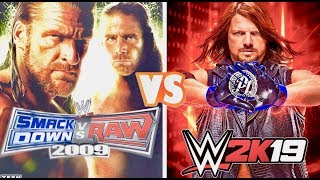WWE Smackdown VS Raw 2009 Finishers VS. WWE 2K19 Finishers Comparison 👌👏😍 WHO IS THE BEST 👍😍👌