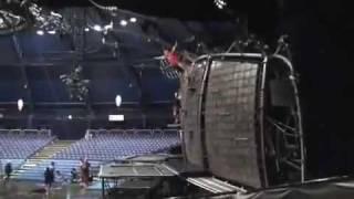 """Lemieux, Cirque du Soleil, trampoline wall - Text  """"She Wants Me"""" Living Legends"""