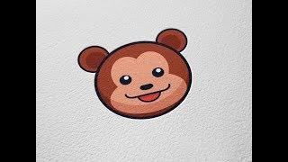 Cute Brown Bear Vector Icon/Badge Adobe Illustrator Tutorial