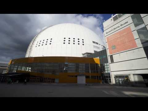 Sweden, Stockholm, Globen Shopping, 14X elevator , 14X escalator