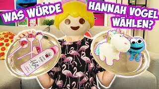 Was würde HANNAH VOGEL wählen? Real Food VS Kids Food & Spielzeug | Playmobil Challenge mit Kathi