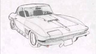 Chevrolet Corvette C2 1967 drawing