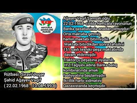 Şəhid Ağayev Vaqif. Neftçala Rayonu Bankə qəsəbəsi