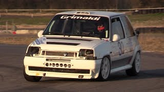200 HP Renault 5 GT Turbo - Lovely turbo sound, race action u0026 on board