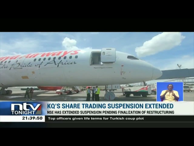 NSE extends suspension of trading of Kenya Airways' shares