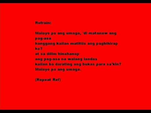 Malayo Pa Ang Umaga By:Rey Valera