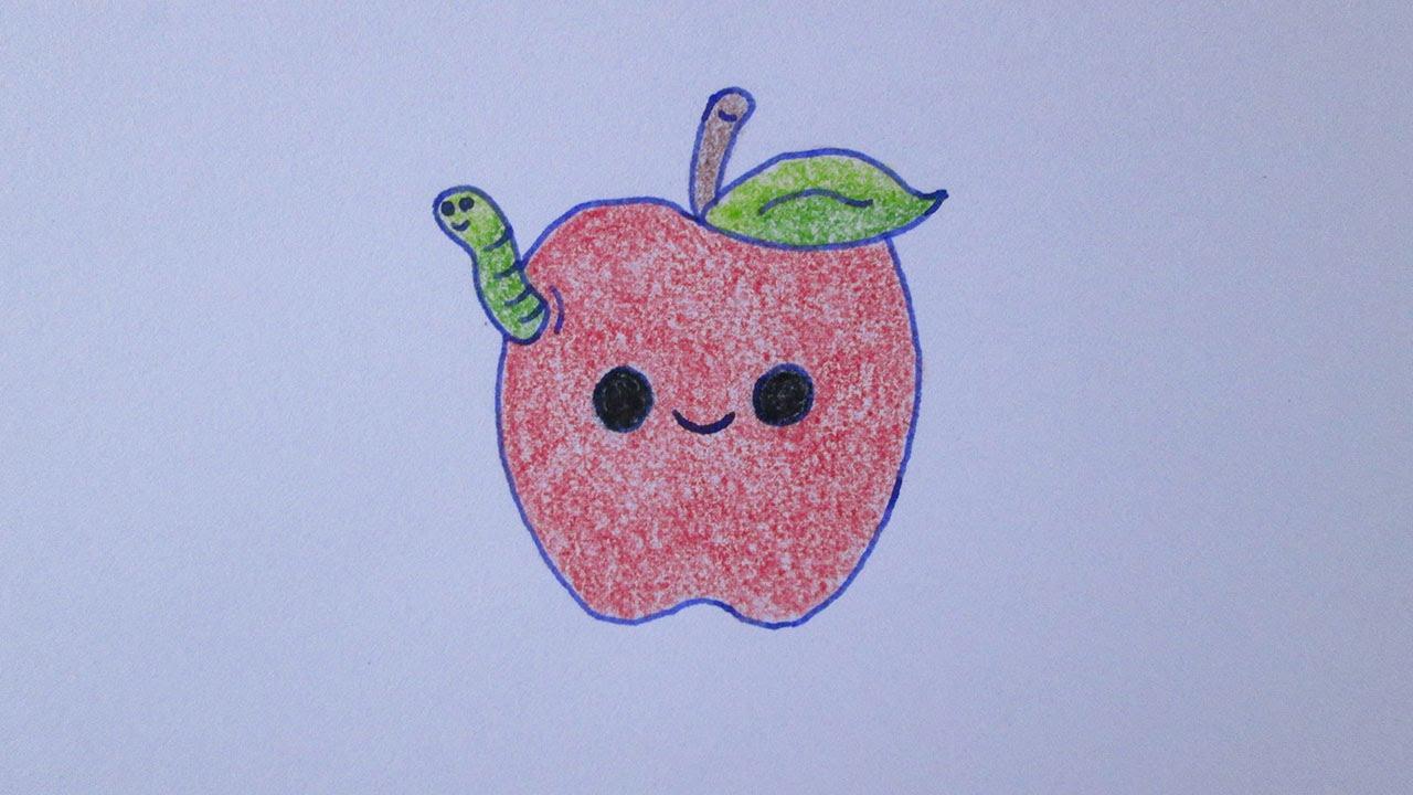 Como Desenhar Coisa Amorosa: Como Desenhar Uma Maçã