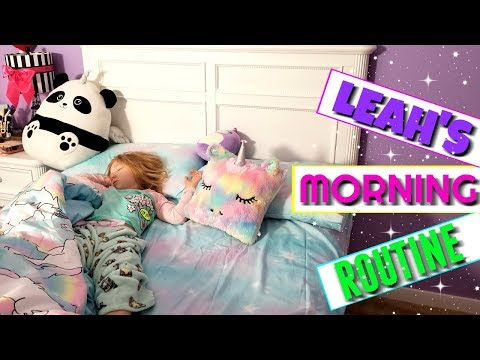 LEAH'S MORNING ROUTINE!!!