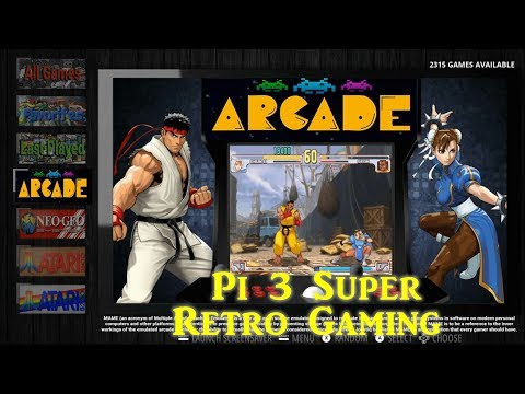 128gb Retropie 4.4 Live Overclock Gaming - 동영상