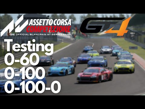 Testing ACC GT4 cars to see which is the Straight-Line King!!! |