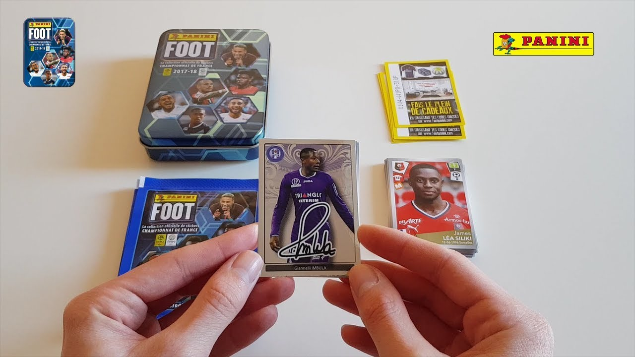 OUVERTURE BOITE METAL STICKERS PANINI FOOT LIGUE 1