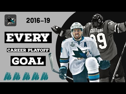 Logan Couture (#39) | EVERY Playoff Goal From 2016-19