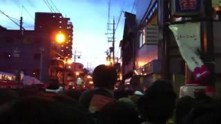 2011年9月18日 岸和田だんじり祭り 小門ラスト