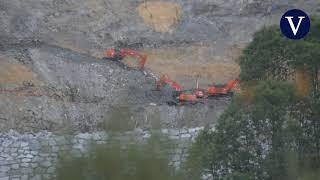 Encuentran restos óseos en la zona del derrumbe del vertedero de Zaldibar
