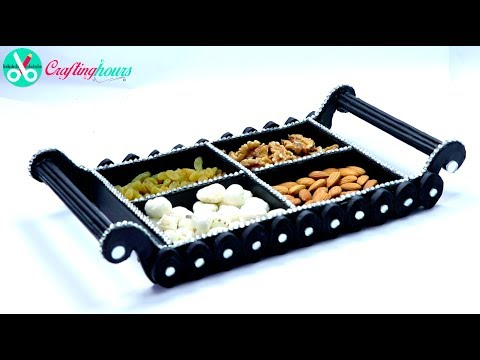 How to Make Dry Fruit Tray, Platter with Cardboard and Newspaper