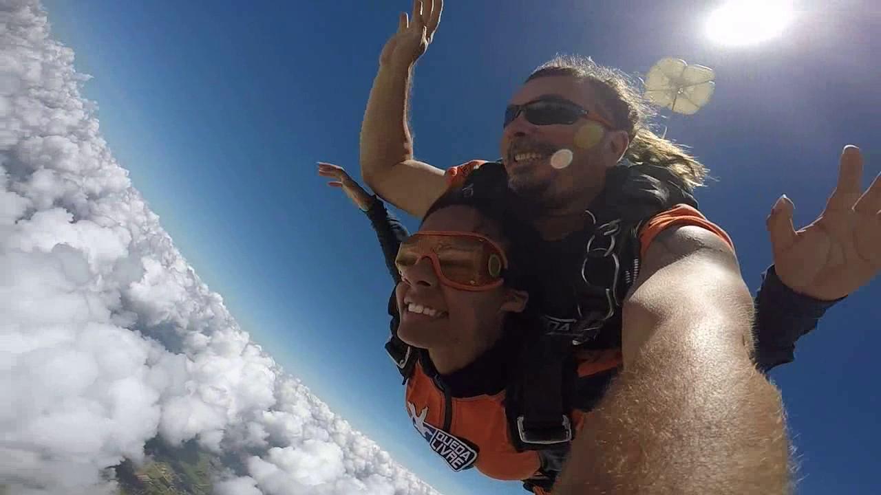 Salto de Paraquedas da Aline na Queda Livre Paraquedismo 14 01 2017