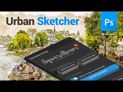 Urban Sketcher Photoshop Plugin - Aquarelleum - Tutorial