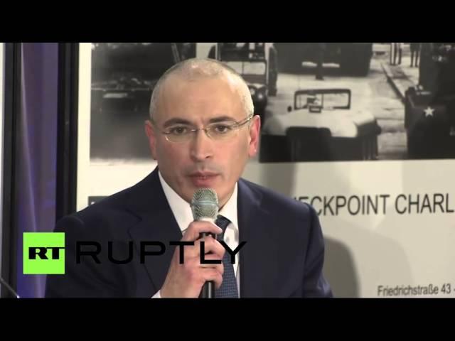 Пресс-конференция Михаила Ходорковского