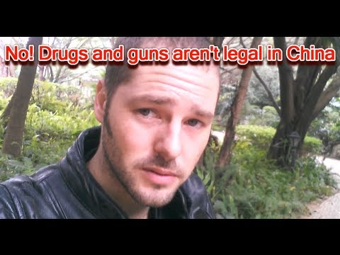 No! Drugs and Guns aren't legal in China