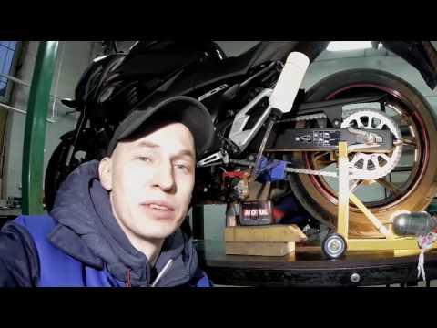 Мойка цепи машинкой Кеттенмакс на Kawasaki Z800