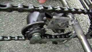 La karteuse/ kart tondeuse/ home made go-kart with lawn mower engine
