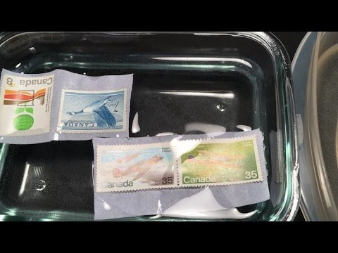How To Soak Stamps Off Envelopes