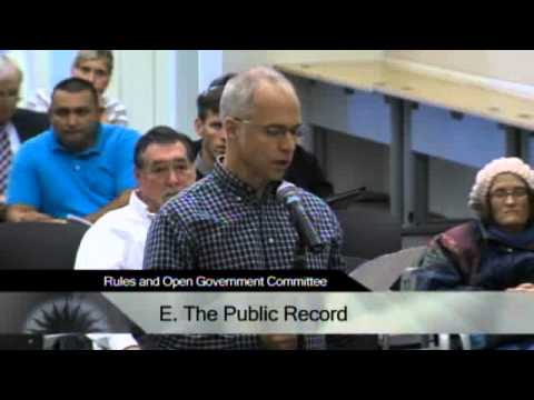 10/30/13 - San Jose City Hall - Rules & Open Government Committee