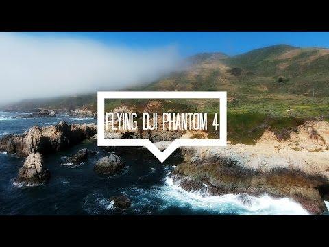 Flying DJI Phantom 4 in Big Sur