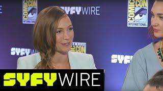 Wynonna Earp's Nicole and Waverly on #WayHaught | San Diego Comic-Con 2017 | SYFY WIRE