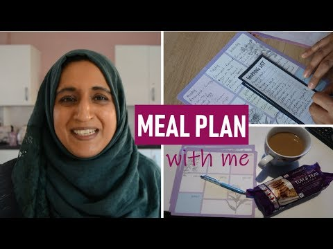 How To Plan Meals And Grocery Shopping Lists   Meal Planning For Beginners   Shamsa