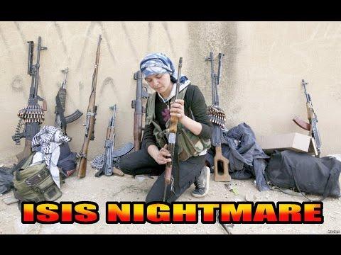 KURDS FEMALE FIGHTERS-IN BATTLE
