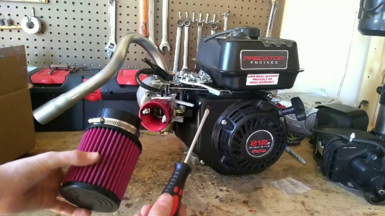 212cc Predator Mods Stage 1 Fast And Loud Youtube