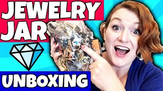Jewelry Jar Unboxing 2018 - Jewelry Jar Opening - Goodwill Jewelry Jars Haul