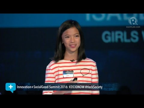 Social Good Summit 2016: 13 year-old coder Isabel Sieh on technology and the future
