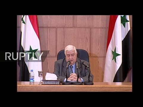 LIVE: Syrian FM Walid al-Moallem holds press conference in D