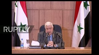 LIVE  Syrian FM Walid al Moallem holds press conference in Damascus