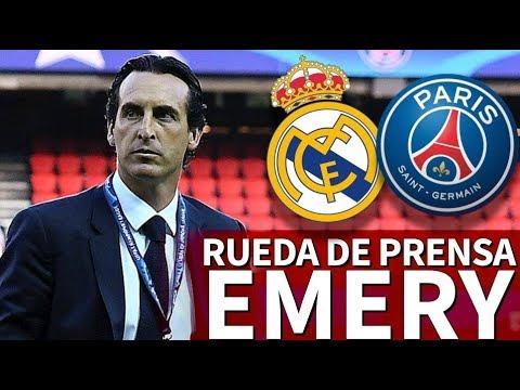 Real Madrid - PSG | Rueda de prensa previa de Unai Emery y Marquinhos previa al  | Diario AS