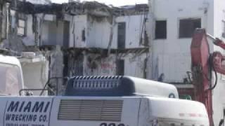 Pirates Inn, Dania Beach Florida: Demolition Unfolds Slideshow 1B