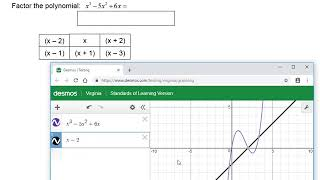 Algebra II Packet 3 - Factors and Roots with Desmos