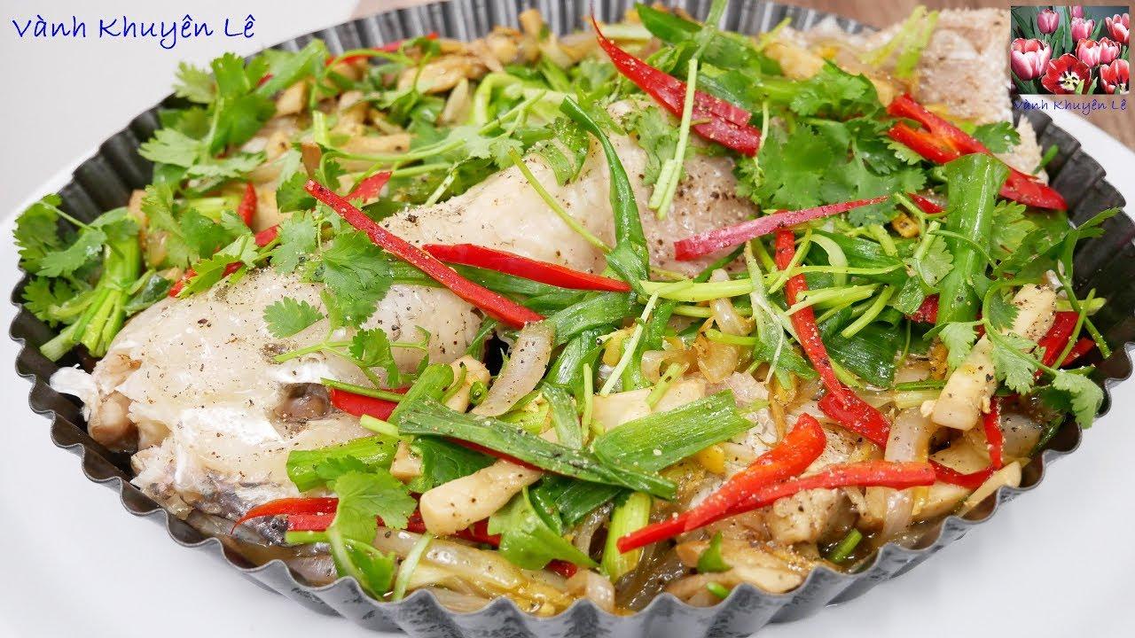 CÁ HẤP HÀNH GỪNG – Cách làm Cá Diêu Hồng hấp Nấm Hành Gừng by Vanh Khuyen
